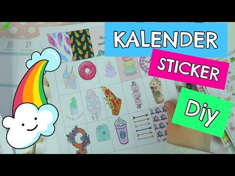 Kalender Sticker / Aufkleber selber machen DIY | Mavie Noelle