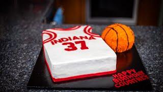Making An IU Hoosiers Jersey And Basketball Cake