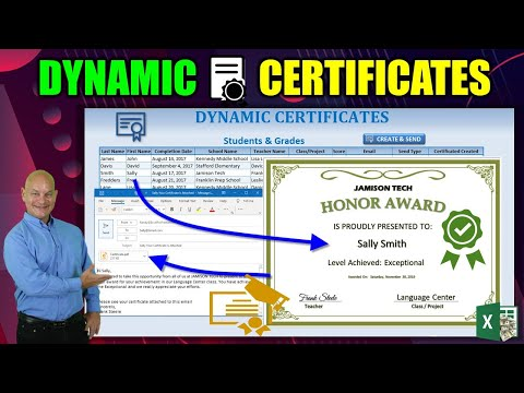 How To Create, Email & Print Dynamic Certificates From Any Excel ...