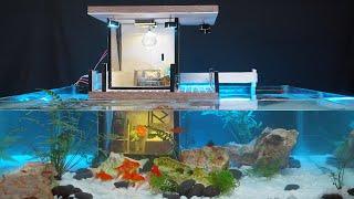 How To Make Awesome Goldfish Aquarium Mini House Full HD 4K - MCKook