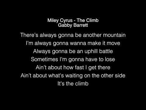 Gabby Barrett - The Climb Lyrics ( Miley Cyrus ) American Idol