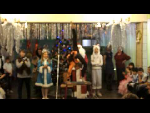 Выступление гимнастки  на Новогоднем Утреннике в школе!