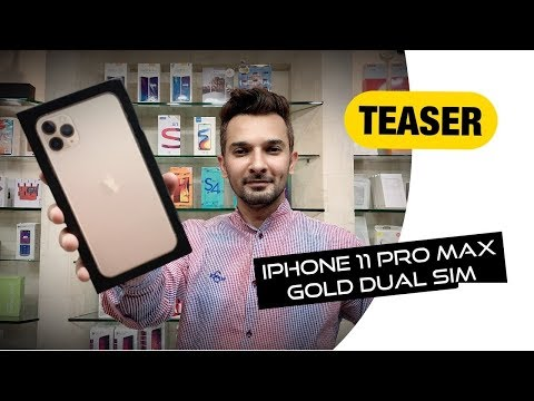 iPhone 11 Pro Max Gold Dual Sim Teaser