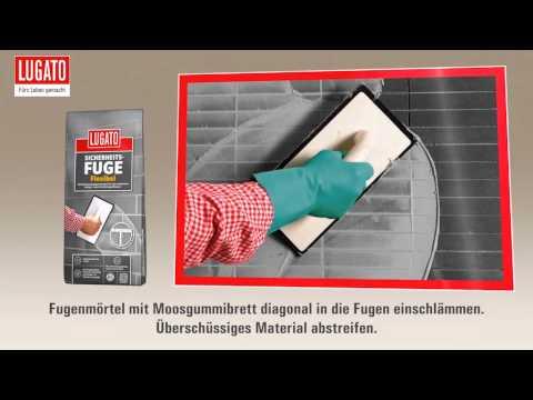 Anleitung: Fugenmörtel verarbeiten mit der Sicherheitsfuge Flexibel von Lugato