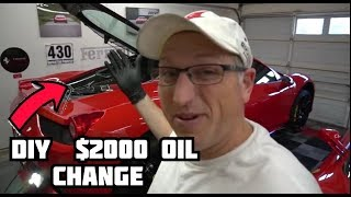 How To Change The Oil In A Ferrari 458!