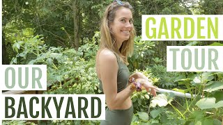 Vegetable Garden TOUR! Our Backyard Container Garden In New York | Lucie Fink