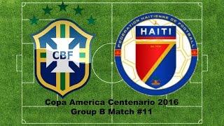 Panini Copa America Centenario 2016 Group B Mach #11 BRAZIL VS HAITI