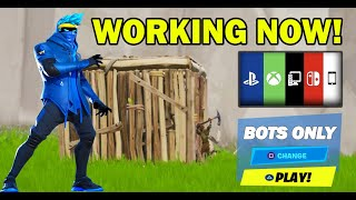 *NEW* How To Get Into FULL BOT LOBBIES In Fortnite Chapter 2 Season 3! PS4/XBOX/PC Bots Lobby Glitch