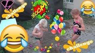 ЧЕЛЛЕНДЖ Еда в шарике на голову СЛАДОСТИ МУКА СОЛЬ ВОДА на голове water balloons on head CHALLENGE