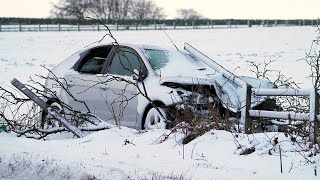 video: Storm Darcy:Temperatures hit decade low causing roads to turn into 'skating rinks', AA warns