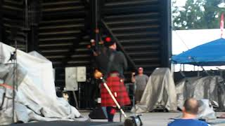 Amazing grace on bagpipes at the charlie daniels band concert 2018