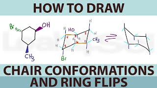 How to Draw Cyclohexane Chair Conformations and Ring Flips