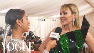 Miley Cyrus On Taking Liam Hemsworth To His First Met Gala  Met Gala 2019 With Liza Koshy  Vogue