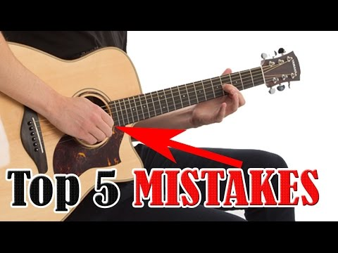 5 Mistakes Beginners Make When Learning Guitar Online