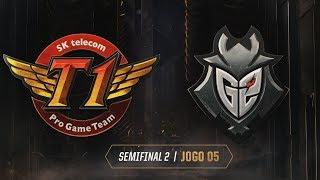 MSI 2019: Semifinal 2 | SK telecom T1 x G2 Esports (Jogo 5) (18/05/2019)
