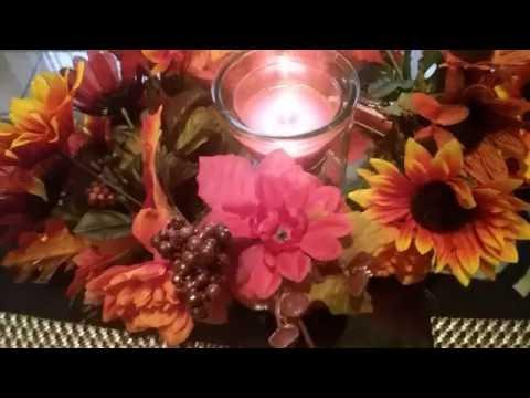 DIY  decoracion para mesa de la temporada otoño