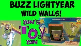 Toy Story Buzz Lightyear WILD WALLS Star Command Space Mission Review! By Bin's Toy Bin