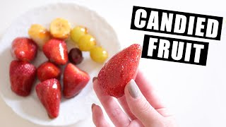 How To Make Candied (Glazed) Fruit Without Corn Syrup   Hard Candy-Shell Fruit For ASMR Eating