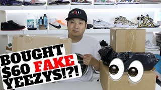 I BOUGHT $60 FAKE YEEZYS. HOW GOOD ARE THEY?!