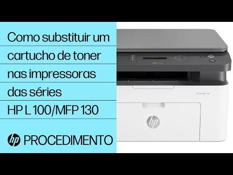 Como substituir um cartucho de toner nas impressoras das séries HP Laser 100 e MFP 130