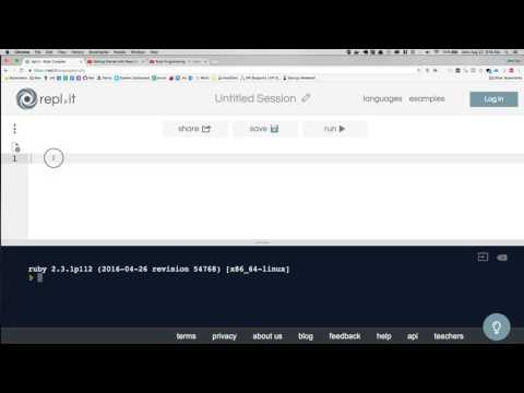 Ruby Programming - 1.1 - Online Terminal and Editor