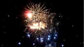 preview picture of video 'Ełk OGIEŃ & WODA 2012 - 1 Pokaz Pirotechniczny BASILE HD 13.07.2012'