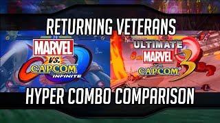 MVCI & UMVC3 Lv3 Hyper Combo Comparison For Returning Veterans   Marvel vs Capcom Infinite