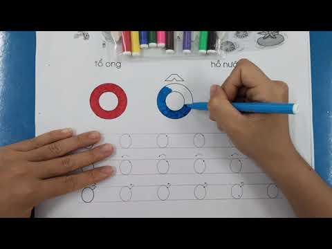 Hoạt động dạy trẻ 5- 6 tuổi tập tô chữ cái o,ô,ơ