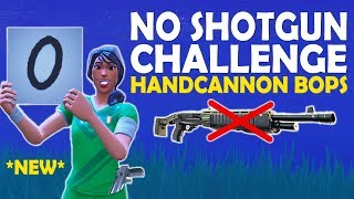 NO SHOTGUN CHALLENGE | SCORING PLAYERS WITH NEW EMOTE | HANDCANNON PLAYS - (Fortnite Battle Royale)