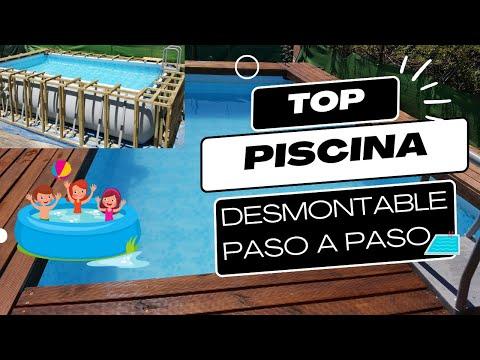 Piscina panelada de madera