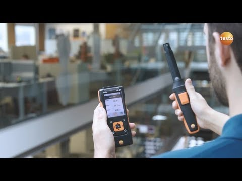 Measuring indoor air quality and comfort level using the air velocity and iaq measuring instrument testo 440