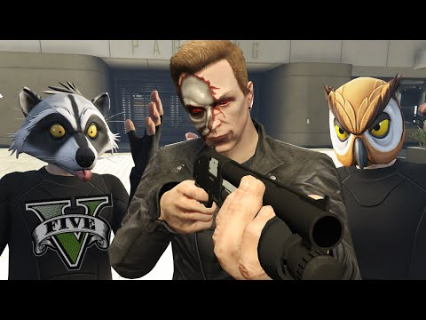 GTA 5 Online Funny Moments - The Terminator, Car Seat Ragdolls And Truck Launch Glitch!