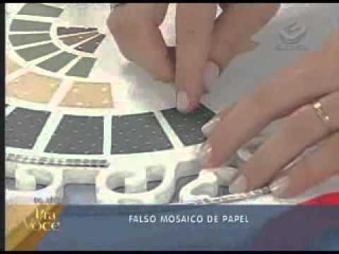 Falso mosaico de papel