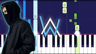 Alan Walker - I Don't Wanna Go Piano Tutorial EASY (Piano Cover) ft. Julie Bergen