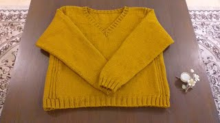 How To Knit Mens Sweater/Sweater For Gents Part 1/Border & Armhole Decreasing With Subtitle