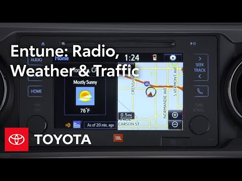 Toyota Entune l HD Radio, Weather, and Traffic | Toyota