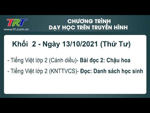 Lớp 2: Tiếng Việt (2 tiết). - Dạy học trên truyền hình TRT ngày 13/10/2021