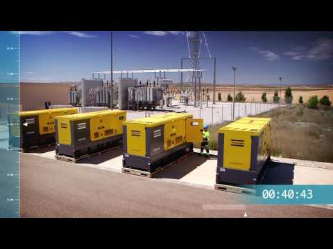 How quick can you get 2MVA of Power? Diesel Power Generators of a Modular Power Plant, Atlas Copco - zdjęcie