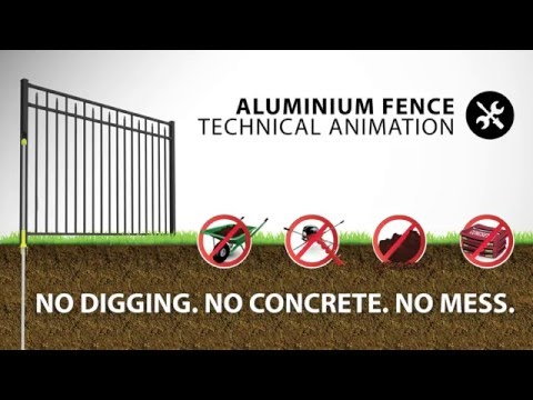 Aluminum Fence Assembly and Installation
