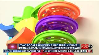 Two Bakersfield High School teens are collecting baby supplies to help pregnant teen mothers