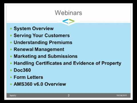 Account Manager Certification Program Overview -- AMS360 ...