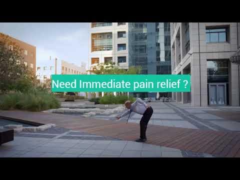Übung mit Lendenwirbel Osteochondrose