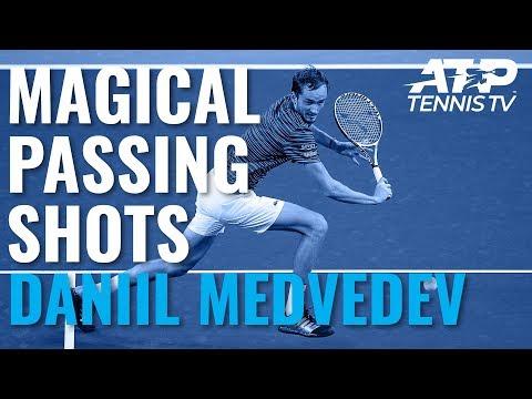 Magical Medvedev Passing Shots in Win vs Tsitsipas | Shanghai 2019