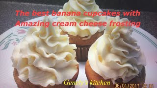 Best Banana Cupcakes Recipe And Amazing Cream Cheese Frosting