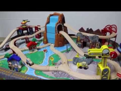 Unboxing KidKraft Waterfall Junction Train Set and Table Toy.Family Fun!