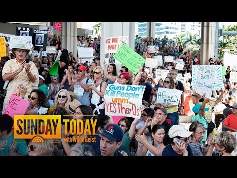 Florida Divided Over Gun Laws As Parkland Rallies In Protest After School Shooting | Sunday TODAY