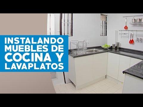 Cómo instalar muebles de cocina y lavaplatos