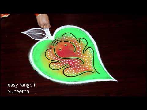 vinayagar chathurthi rangoli design by easy rangoli