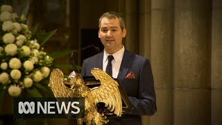 Sisto Malaspina's son gives eulogy at beloved restaurateur's funeral | ABC News
