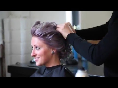 How to style a basic textured updo at home